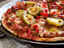 Mexican pizza Stock Photography