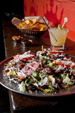 Mexican pizza with tortilla chips Stock Photography