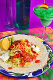 Mexican Plate with Cocktail Royalty Free Stock Images