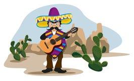 Mexican playing Guitar Stock Photos