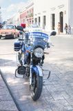 Mexican police motorcycle Stock Photography