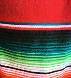 Mexican poncho striped stock image