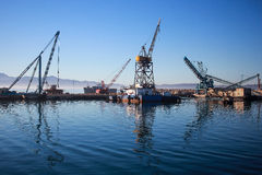 Mexican port of Ensenada stock photo