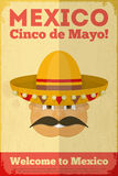 Mexican Posters. Mexican Poster in Retro Style. Cinco de Mayo. Illustration