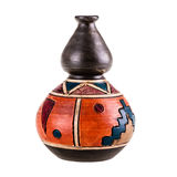 Mexican pot. A small ceramic mexican pot isolated over a white background Royalty Free Stock Photo