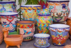 Mexican Pots Old San Diego California Stock Images