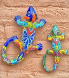 Mexican pottery lizard stock photography