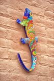 Mexican pottery lizard stock image