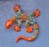 Mexican pottery lizard royalty free stock image