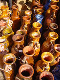 Mexican pottery for sale Royalty Free Stock Photography