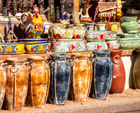 Mexican Pottery Shop Royalty Free Stock Photography