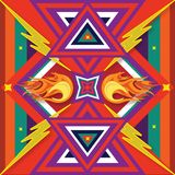 Mexican Print Fire. These Mexican prints are based on indigenous legends Royalty Free Stock Photo