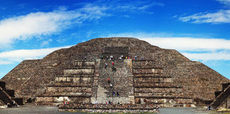 Mexican pyramid panoramic Stock Photography