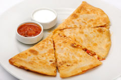 Mexican quesadilla Stock Images