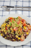Mexican Quinoa Salad. With tomatoes, corn and beans Royalty Free Stock Photography