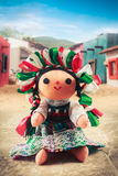 Mexican rag doll in a traditional dress on a mexican village Royalty Free Stock Photo