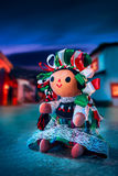 Mexican rag doll in a traditional dress at night Stock Photography