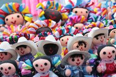 Mexican rag dolls. Beautifully hand crafted. stock photo