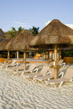 Mexican Resort with Beach Chairs Stock Photos