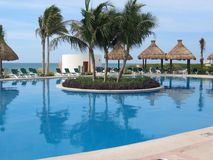 Mexican resort pool Royalty Free Stock Images