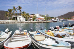 Mexican Resort Town Boats Stock Photos