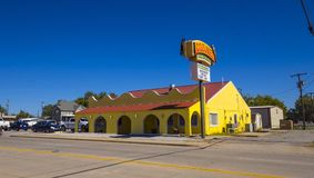 Mexican restaurant and bar at Route 66 in Oklahoma - STROUD - OKLAHOMA - OCTOBER 16, 2017 Stock Image