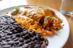 Mexican Restaurant Enchiladas Plate Stock Image