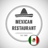 Mexican restaurant logo Royalty Free Stock Photography