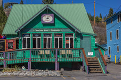 Mexican restaurant in main street historical Truckee stock photo