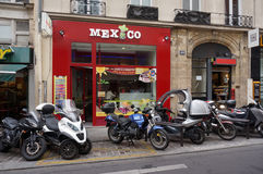 Mexican Restaurant in Paris France Stock Photo