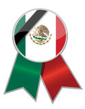 Mexican ribbon with black memorial stripe Royalty Free Stock Photos