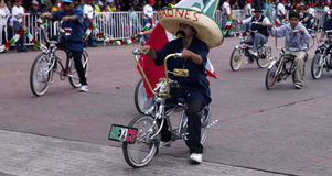 Mexican riding a customized bike Royalty Free Stock Photography