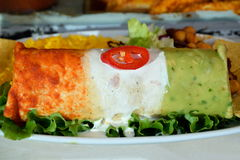 Mexican roll-up. Very colourful Mexican roll-up royalty free stock photo