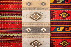 Mexican rugs. Colorful hand made rugs at Oaxaca, Mexico stock photography