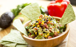 Mexican salad with garlic sauce Royalty Free Stock Images