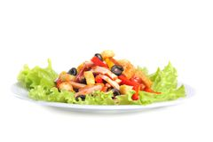 Mexican salad close up Royalty Free Stock Photos