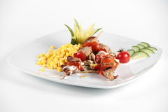 Mexican salad on a white plate Royalty Free Stock Photography