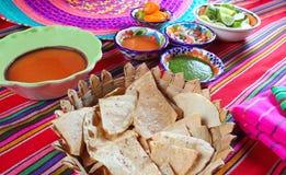 Mexican sauces pico de gallo habanero chili sauce Royalty Free Stock Photography
