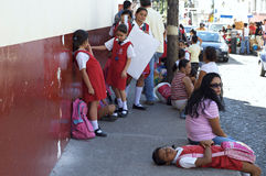 Mexican School Children Stock Image