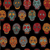 Mexican Scull seamless pattern. Mexican Scull seamless pattern vector Stock Image