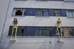 Mexican sculptures of a skeletons, day of dead, Mexico City Stock Photo