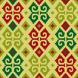 Mexican seamless background. Background with mexican seamless bright pattern stock illustration