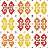Mexican seamless background. Background with mexican seamless bright pattern royalty free illustration