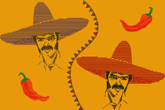 Mexican seamless pattern Royalty Free Stock Image