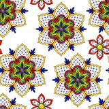 Mexican seamless pattern flowers. vector illustration
