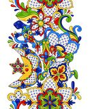 Mexican seamless pattern. royalty free illustration