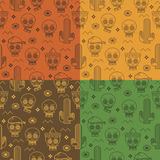 Mexican seamless patterns Royalty Free Stock Image