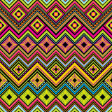 Mexican seamless zigzag background Royalty Free Stock Images