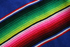 Mexican Serape. Close up of colorful Mexican Serape Royalty Free Stock Image
