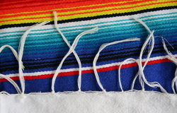 Mexican Serape. Closeup of fringe on a Mexican Serape Royalty Free Stock Image